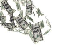 Factures en baisse de l'argent $100 Photographie stock libre de droits