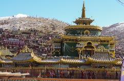 Faculdade budista de Larong Wuming s em Seda Foto de Stock Royalty Free