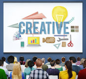 A faculdade criadora criativa inspira o conceito da inovação das ideias Imagens de Stock
