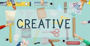 A faculdade criadora criativa inspira o conceito da inovação das ideias Fotografia de Stock Royalty Free