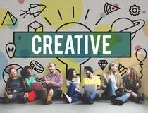 A faculdade criadora criativa inspira o conceito da inovação das ideias Imagens de Stock Royalty Free