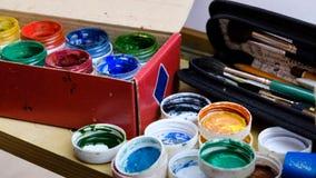 faculdade criadora da escova de pintura Fotos de Stock Royalty Free