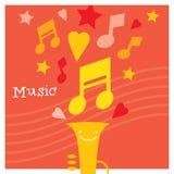 Faculdade criadora das crianças e desenvolvimento da musicalidade Fotos de Stock Royalty Free