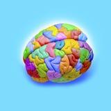 Faculdade criadora do cérebro imagem de stock