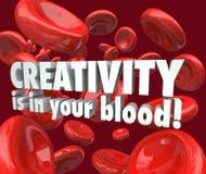 A faculdade criadora está em sua inspiração da imaginação das pilhas vermelhas do sangue Fotos de Stock