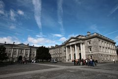 Faculdade da trindade, universidade em Dublin Fotos de Stock