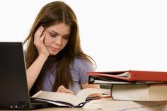A faculdade frustrante studen Foto de Stock Royalty Free