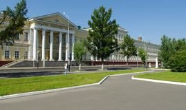 Faculdade. Omsk.Russia do cadete. fotografia de stock