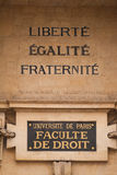 Facultad de París de ley Fotografía de archivo