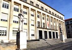 Faculteit van Geletterdheidsuniversiteit van Coimbra stock foto