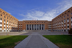Faculty. Building of medical faculty of the Madrid university to Complutense Stock Photography