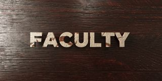 Faculty - grungy wooden headline on Maple  - 3D rendered royalty free stock image. This image can be used for an online website banner ad or a print postcard Stock Photo