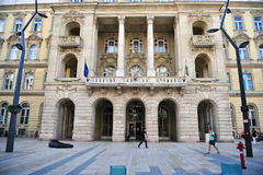 Faculty of Law and Political Sciences in Budapest historical dow Royalty Free Stock Photo