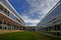 Faculty. Modern building of pharmaceutical faculty of the Madrid university to Complutense Royalty Free Stock Image