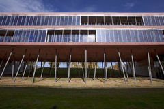 Faculty. Modern building of pharmaceutical faculty of the Madrid university to Complutense royalty free stock photography