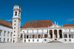 Faculty of Philosophy at University of Coimbra. Portugal stock images