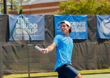 Facundo Mena-spelen in qualifer in Winston-Salem Open Royalty-vrije Stock Foto's