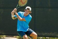 Facundo Mena-spelen in qualifer in Winston-Salem Open Stock Afbeeldingen