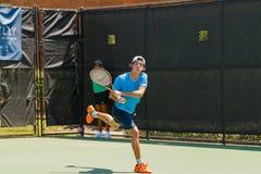 Facundo Mena-spelen in qualifer in Winston-Salem Open Stock Afbeelding