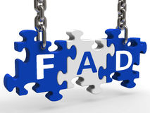 Fad Puzzle Shows Latest Thing Or Craze. Fad Puzzle Showing Latest Thing Or Craze Royalty Free Stock Photo