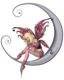 Fada consideravelmente cor-de-rosa da lua Fotografia de Stock