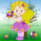 Fada da flor o amor perfeito Imagem de Stock Royalty Free