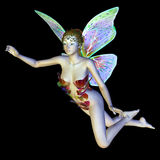 A fada da flor voa Imagem de Stock