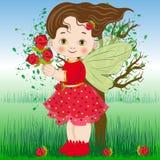 Fada das flores a rosa Fotografia de Stock