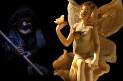 A fada e a bruxa má Foto de Stock Royalty Free