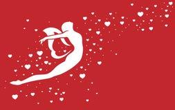 Fada e corações do amor ilustração stock