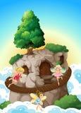 Fadas e caverna Fotografia de Stock Royalty Free