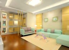 Faddish living room vector illustration