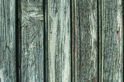 Fade blue wooden board wall. Fade blue old painted wooden board fence wall surface closeup as background Royalty Free Stock Photography