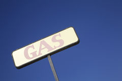 Faded Abandondoned Gas Station Sign Royalty Free Stock Image
