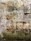 Faded antique poster. Details of a faded and damaged antique poster. Suitable for a grunge background Stock Images