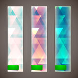 Faded banners with triangles Royalty Free Stock Photography