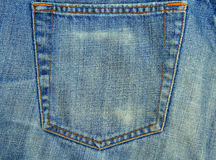 Faded Blue Jeans Royalty Free Stock Photography