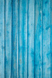 Faded Blue Plank Wall Stock Image