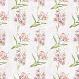 Faded botany pattern wallpaper Royalty Free Stock Photos
