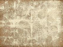 Faded canvas paisley texture. Faded canvas texture with ornaments stock illustration