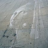 Faded chalk drawing Stock Image