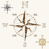 Faded Compass Rose Stock Photography