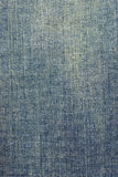 Faded denim fabric texture. Closeup of the texture of faded denim fabric Stock Photography