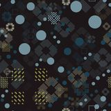 Faded geometric seamless pattern Royalty Free Stock Photos