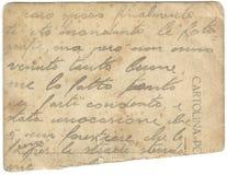 Faded Italian Handwriting Royalty Free Stock Image