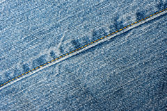 Faded Jeans seam detail Stock Photography