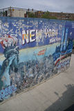 Faded mural honoring 911 New Yorkers Royalty Free Stock Image