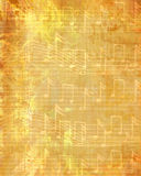 Faded music sheet Stock Image