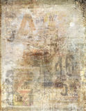 Faded newspaper background Royalty Free Stock Photos