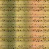 Faded old random musical notes background Stock Image